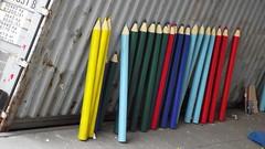 giant pencils (byronv2) Tags: colour festival pencil pencils scotland edinburgh colours fringe edinburghuniversity oldtown prop edimbourg colouredpencil edinburghfringe festivalfringe edinburghfestivalfringe fringe2014
