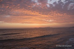 Lima, Peru (Marcelovo) Tags: ocean sunset reflection peru clouds canon waves lima horizon stock t4i