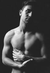(Steven Sites) Tags: gay light boy shadow portrait man hot cute sexy male guy canon eos 50mm masculine muscle mark f14 grain twink ii lgbt 5d noise