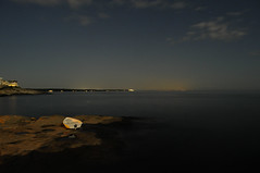 Row, Row, Row Your Boat (Narratography by APJ) Tags: ocean longexposure sky night clouds dark athletic travels newengland rowboat apj narratography