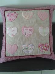 almofada corao (PCPriscila) Tags: pillow patchwork almofada pannel pan