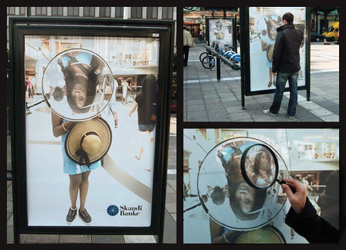 Queen Sabine Magnifying Glass Bus Stop Ad