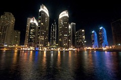 Dubai Marina (Uros P.hotography) Tags: road trip travel mountain color colour hoja tourism fountain colors beautiful car night skyscraper marina photoshop mall hotel al amazing nice fantastic sand nikon perfect exposure dubai colours tour view desert superb fort hiking top unique empty dunes awesome united uae sigma tourist adventure emirates camel khalifa arab journey heat stunning excellent rolls lonely lovely abu dhabi incredible luxury breathtaking royce tal burj jebel liwa ain d300 hafeet atthetop photomatix moreeb slod300 mireb