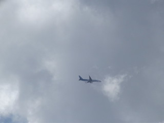 Plane seen flying past Blakesley Hall - Thomson