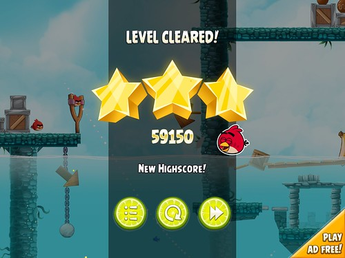 Angry Birds Rio Level Completed: screenshots, UI