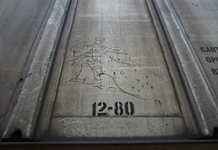 THE SOLO ARTIST, JOHN EASLY '89 (YardJock) Tags: railroad graffiti spraypaint hopper freighttrain moniker benching paintedsteel boxcarart benchreport