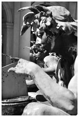 ART NOUVEAU SCULPPTURE IN HAMBURG TOWN HALL (Spaceopera) Tags: voyage travel sculpture art monochrome germany nikon europe faces hamburg visit artnouveau nouveau allemagne hambourg discover d90 nikond90