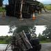 Overturned Hay Trailer