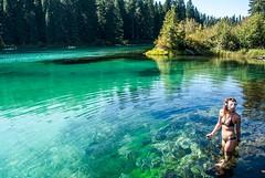 Clear Lake, Oregon (Justin Knott) Tags: lake cold water oregon nikon clear bikini d60 gopro exploregon