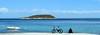 Pure Mediterranean..... A Panorama (pallab seth) Tags: travel blue sea sky colour nature beautiful beauty landscape spring spain nikon azure dreamy traveling mallorca palma majorca magalluf balearicisland platjadepalma mediterraneanlandscape badiadepalma nikon1855mmf3556gafsdxvr d3100