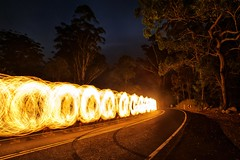 Fire-Centipede (alexkess) Tags: park lightpainting fire sydney royal national alexander tobias 2010 alexkess kesselaar hhnlich lightpaintlab