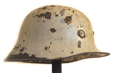 Vickers Irish Free State Army Helmet - Civil Defence - 1940s (Owen J Fitzpatrick) Tags: street 1920s ireland dublin irish white photography paint pattern
