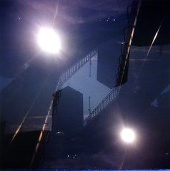 [VAeD] Genova Porto (Urca) Tags: 120 6x6 mediumformat square holga lomo italia doubleexposure genova porto doppiaesposizione 2014 analogico 310820143002