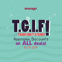 Get additional discounts tomorrow at www.ensogo.com.ph!
