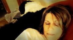side by side (she wolf-) Tags: friend snooze odin australianshepherddog dianekramer dianemkramer selfiewithodinboy