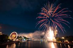 Fireworks over Main River, Frankfurt (Khem ) Tags: food beer wheel festival kids river downtown fireworks frankfurt ferris celebration