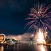 Fireworks over Main River, Frankfurt