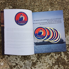Creative Cargo Book (Claire_Sambrook) Tags: reading book design stickers portsmouth printed portsmouthcitycouncil packs universityofportsmouth strongisland creativeportsmouth creativecargo