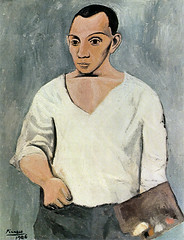 [ P ] Pablo Picasso Self-portrait with a palette (1906)