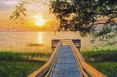 Landing At Sunset_2048p (RVDigitalBoy) Tags: sunset painting
