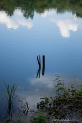 (Giovanna Carlotta Intra) Tags: reflection water ro river agua nuvole fiume nubes reflejo acqua riflesso clods