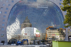 - Markthal Rotterdam - (Jacqueline ter Haar) Tags: architecture reflections rotterdam explore mvrdv markethall reflectie markthal laurenskwartier