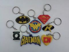 Chaveiros de super heris (ba3artes) Tags: robin superman biscuit wonderwoman batman greenlantern chapolin superhomem porcelanafria mulhermaravilha lanternaverde chaveirosdebiscuit