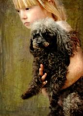 Runaway Love (floralgal) Tags: portrait pet painterly animal emotion runningaway petportrait candidportrait emotionalportrait littlegirlwithdog littlegirlrunningawaywithdog