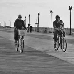 A morning ride (Eric.Ray) Tags: city white black digital canon square point shoot atlantic bicyclists g12