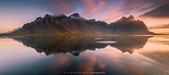 Mirror-ness (Juan C Ruiz) Tags: black reflection water reflections iceland islandia sand vik reflejos hofn vesturhorn stockness
