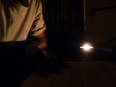 By candlelight (PAZghost) Tags: light paris france shirt night table reading book candle darkness lumiere lecture nuit livre 92 asnieres bougie rememberwhen lueur flickrfriday obscurite