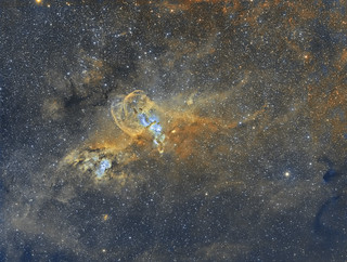 NGC 3576 - The Statue Of Liberty Nebula