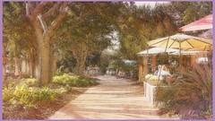Strolling down the Avenue (Beaches Marley.....iPad art) Tags: beaufort sc watercolour avenue stroll
