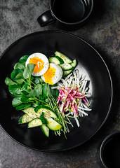 Watercress salad (ctotir) Tags: salad watercress cucumber radish plate food meal foodphotography foodanddrink
