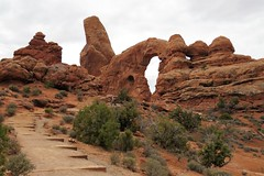 Steps in Time (Patricia Henschen) Tags: red rocks redrocks clouds pathscaminhos archesnationalpark arches nationalpark moab utah turret turretarch trail