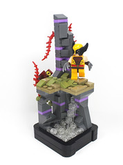 X-Men: Strange Land (Nexus-) Tags: wolverine xmen lego photography yellow purple grey red brown olive black silver flesh transparent clear bricks toys