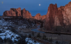 Moonlight Becomes You II (chasingthelight10) Tags: events photography landscapes canyons highdesert nature rivers rockformations vistas sunrise sunrises places centraloregon smithrock oregon aldersprings smithrockstatepark otherkeywords volcano river