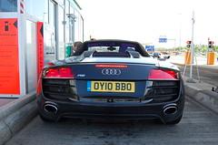 Audi R8 V10 Spyder (D's Carspotting) Tags: audi r8 v10 spyder france coquelles calais black 20100613 oy10bbo le mans 2010 lm10 lm2010