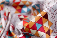 dreamsphere close up spoonflower photograph 09032017 (Scrummy Things) Tags: spoonflower contest top10 geodesic geo geometric sphere fabric surfacedesign pattern wallpaper giftwrap maroon orange blue cream grey gray gold yellow modern graphic