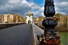 Ponte degli innamorati (ioriogiovanni10) Tags: marzo cielo nikond5100 d5100 fiume italia pontemilvio tevere roma nuvole sky nikon