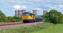 56105 at Willington (robmcrorie) Tags: train grid rail railway loco trains class wellington locomotive enthusiast railways railfan 56 grangemouth colas sinfin 56105