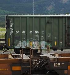 ERUPTO (YardJock) Tags: railroad graffiti spraypaint boxcar piece freighttrain rollingstock benching paintedsteel boxcarart benchreport