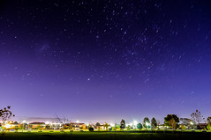 Uncovered Stars In The Night (Kuyan Redman) Tags: street blue light cold night stars star nikon purple trails d300