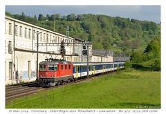 Re 4/4 11124 - Cossonay (CC72080) Tags: train sbb locomotive colibri cossonay cff npz re420 re44 interrégio