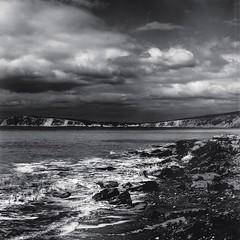 Isle of Wight (SrleArt) Tags: uk sea england painterly beach nature clouds landscape island artwork nikon waves arty unitedkingdom sigma erosion isleofwight layered d7000 nikond7000 instagram mextures srleart