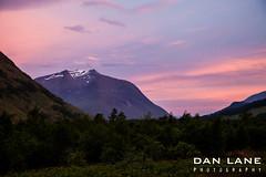 Alpenglow (DanLanePhotography) Tags: pink sky sun mountain dan set landscape photography golden scotland highlands ben daniel scottish lifestyle glen adventure hour lane stunning loch alpenglow etive lochaber starav