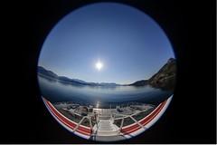 Summer in Norway. (Ole-Gunnar) Tags: ocean sea summer mountain nature norway speed canon boat fast fisheye finnmark ovean visitnorway ilovenorway 5dmk3 canon815mm visitnorwat