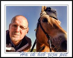 Pret voor twee (gill4kleuren - 11 ml views) Tags: horse me sarah fun gill saar paard haflinger