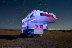 Mojave Hilton (dejavue.us) Tags: california longexposure nightphotography camping lightpainting abandoned nikon desert fullmoon nikkor camper startrails mojavedesert d800 vle