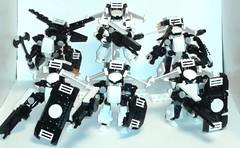 TEM - 143rd First Contact Detachment - Peregrine Falcons (soriansj) Tags: lego mecha mech moc microscale mechaton mfz mf0 mobileframezero